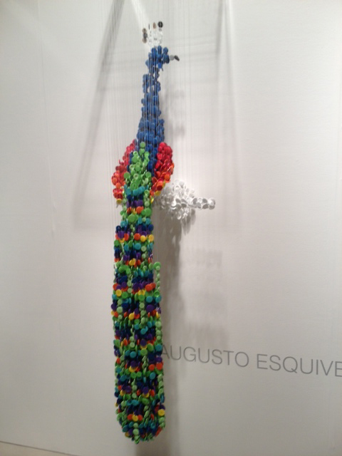 This is made of buttons hung on string! Crazy!